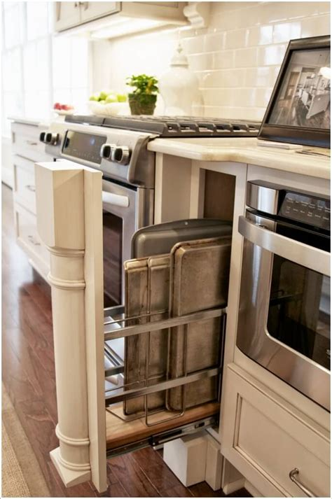 storage baking cookie sheet tray practical kitchen rack space narrow houzz wasted via