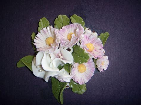pasta per fiori composizione fiori in pasta di mais per la casa e per te