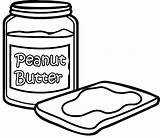 Butter Peanut Coloring Pages Sandwich Bread Drawing Jelly Sheets Easy Getdrawings Printable Drawings sketch template