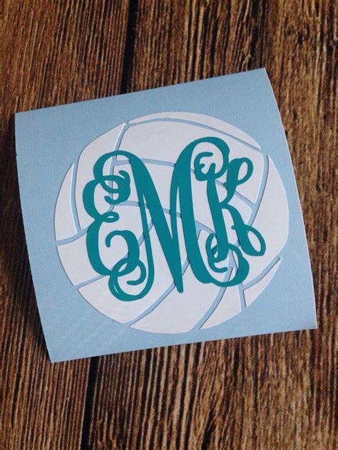 volleyball monogram decal sticker gifts  volleyball players monogram vinyl decal monogram