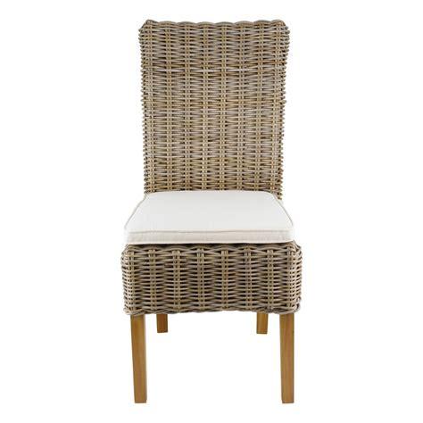 galettes de chaises d houssables chaise en kubu tressé galette lot de 2 mooviin
