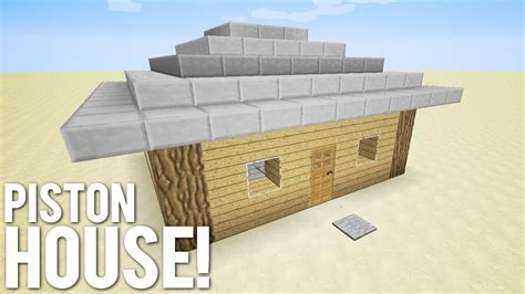 minecraft  piston house youtube