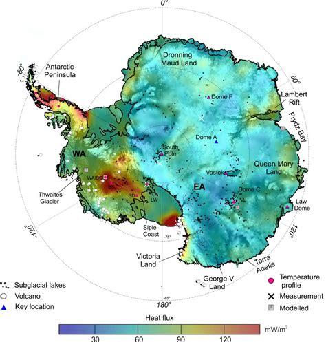 antarctic heat map reveals  ice hotspots geospace