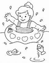 Swimming Coloring Sheets Pages Sheet Forkids sketch template