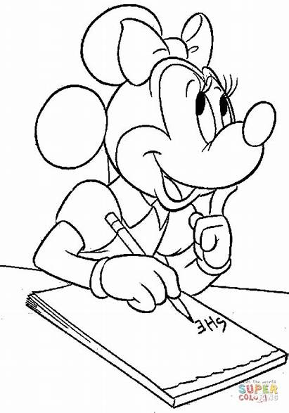 Minnie Colorear Coloring Dibujos Writing Colouring Mouse