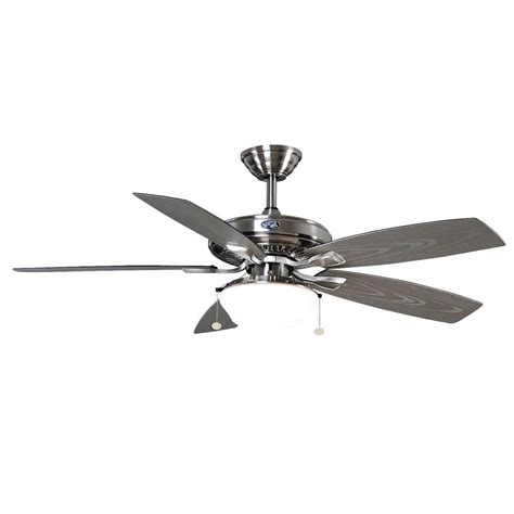 outdoor plug in ceiling fan for gazebo hton bay gazebo 52 quot outdoor brushed nickel ceiling fan