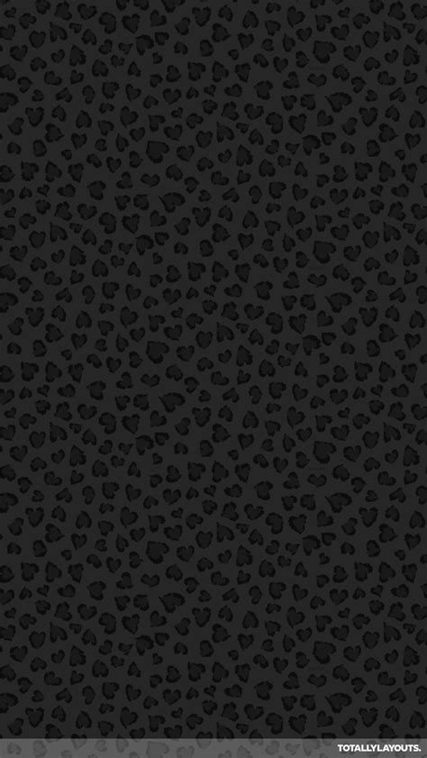 Black Animal Print Wallpaper - black leopard print android wallpaper animal print