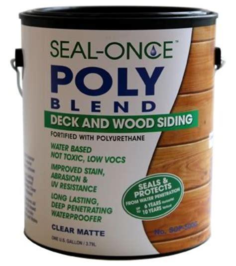 seal  poly blend waterproofing wood sealer