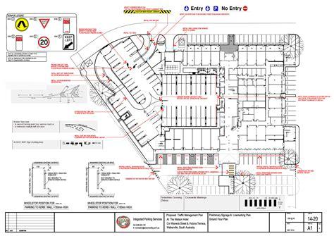 builders floor plans car park upgrades parking design advice end of trip