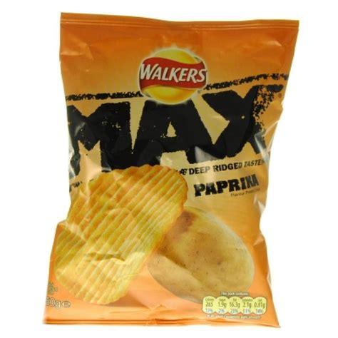 Walkers Max Paprika Flavour Potato Crisps 50g | Approved Food