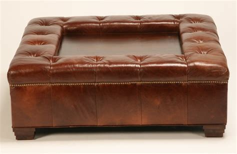 Oversized Tufted Ottoman by 332 Oversized Tufted Leather Ottoman Coffee Table Lot 332
