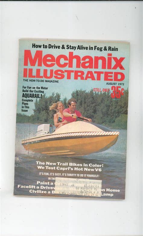 Mechanix Illustrated Boat Plans by Mechanix Illustrated Magazine August 1972 Vintage Build