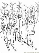 Coloring Pages Skiing Sports Printable Ski Sheets Sheet Sport Coloringpages101 Others Print sketch template
