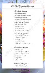 wedding itinerary sle reception timeline order of events wedding program