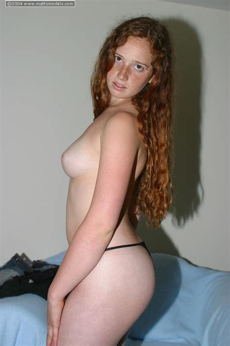 37 · Shy Teen Rachel With Flowing Red Hair Upstairs And Down
