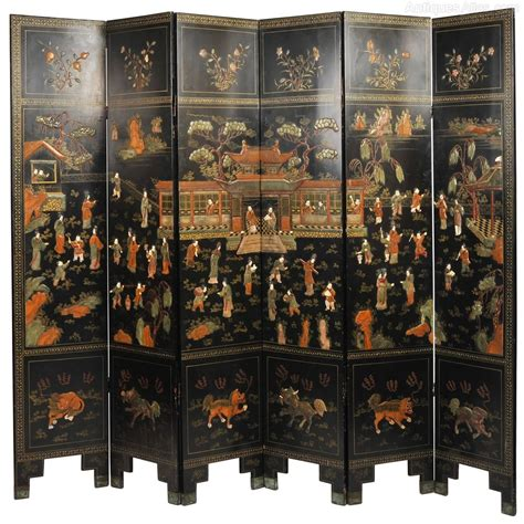 black lacquer chinese folding screen antiques atlas