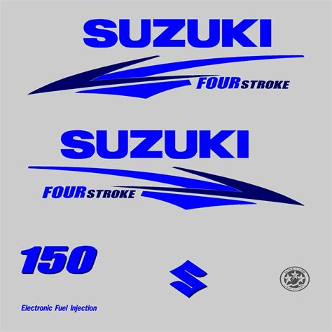 Suzuki Stickers by 1 Kit Stickers Suzuki 150cv Serie 2 Pour Capot Moteur