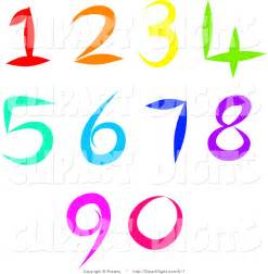 Colorful Numbers Clip Art Free