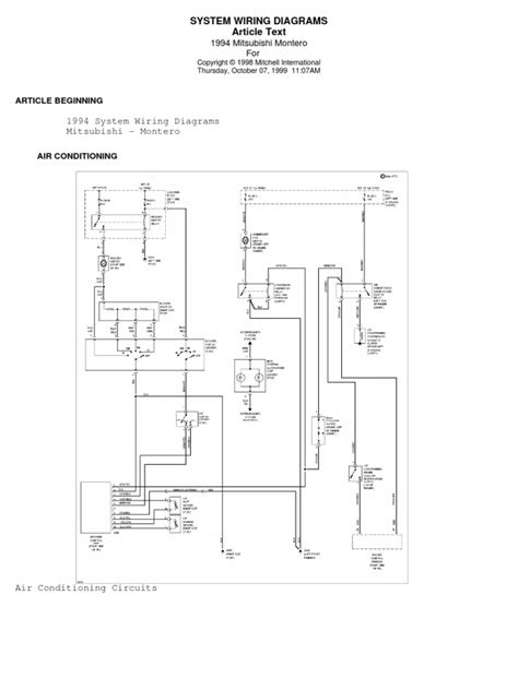 94 pajero wiring diagram