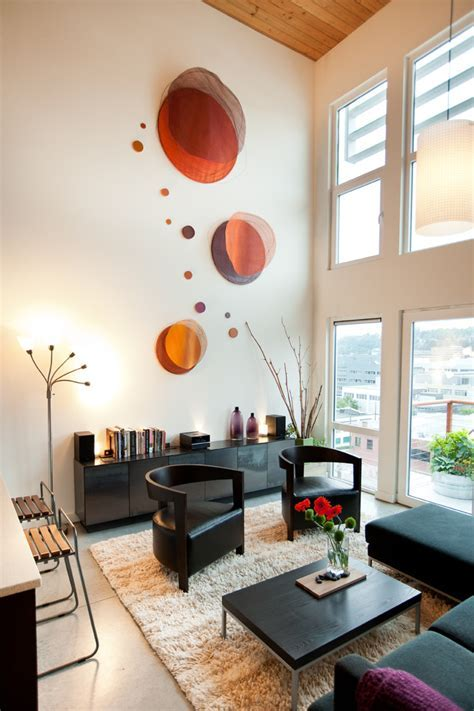 Diy wall ideas living room industrial with double height