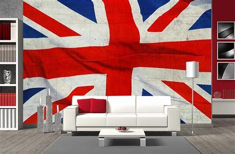 deco chambre angleterre papier peint panoramique drapeau de l 39 angleterre en grand