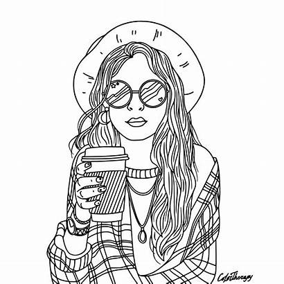 Coloring Pages Sheets Colouring Printable Adult Hair