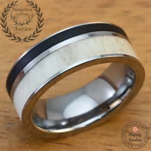 black onyx wedding ring solid antler and brushed black onyx tungsten carbide 39 s wedding ring 8mm width flat style