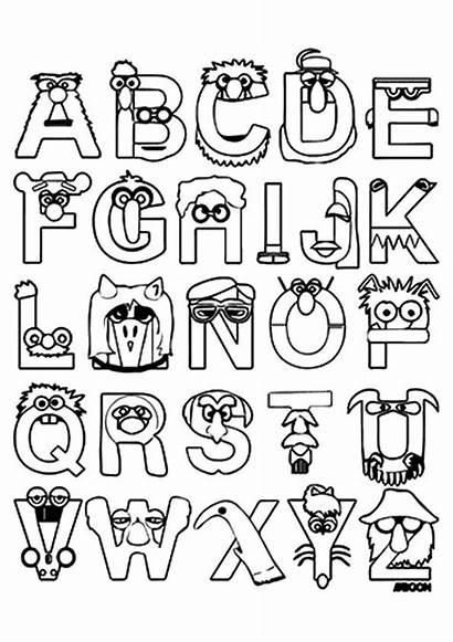 Coloring Alphabet Lettering Hand Calligraphy Sheets Creative