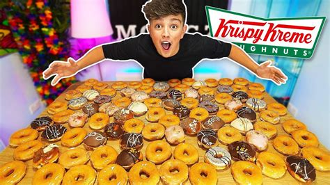 Eating 100 Donuts Challenge!! *500,000 Calories* (entire