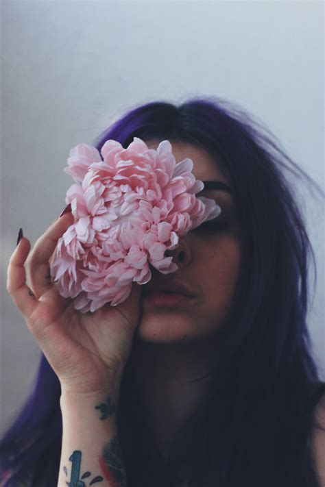 girl photograph flower pale pastel goth soft grunge solataa