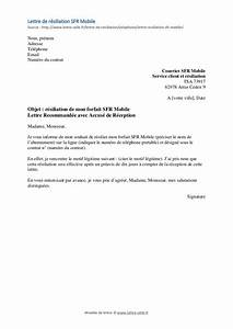 Arreter Assurance Auto : r siliation sfr mobile mod le de lettre gratuit ~ Gottalentnigeria.com Avis de Voitures