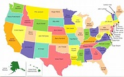 United States Of America With Names | Qualads