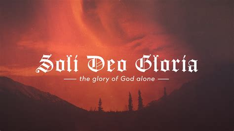 Reformation Soli Deo Gloria Motion Background   The Skit Guys
