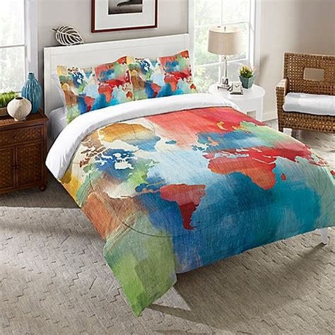laural home 174 seasons change abstract comforter in red