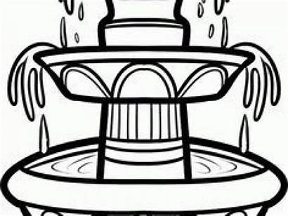 Fountain Clipart Outline Clip Water Clipground Webstockreview