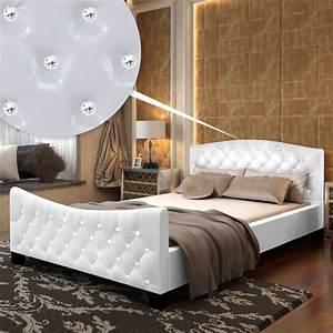 Bett 140 Cm : hochglanz kunstlederbett doppelbett bett 140 x 200 cm wei g nstig kaufen ~ Orissabook.com Haus und Dekorationen