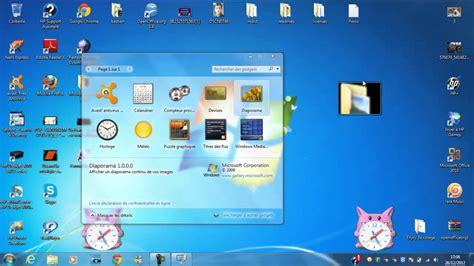 gadgets de bureau mettre un gadget sur écran de ordi bureau
