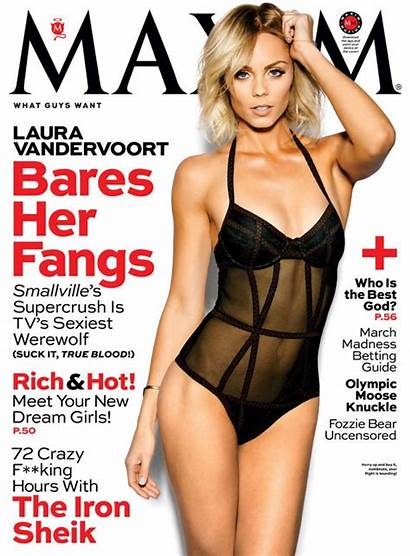 Maxim Laura Vandervoort Magazine March Issue Celebmafia