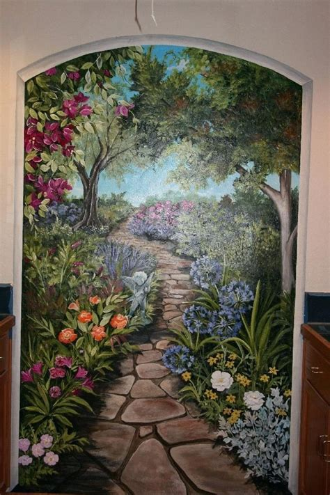 garden murals for outdoors garden wall murals ideas peenmedia com