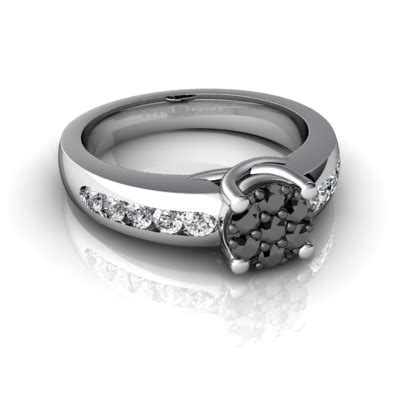 cheap wedding ring for sale with black and white diamonds online