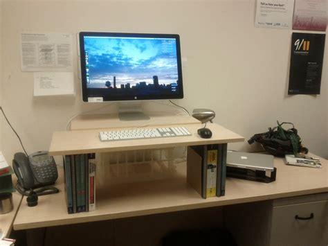 dual monitor standing desk diy diy standing desk erin r white