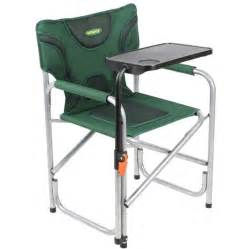 outback folding padded directors chair green including table vec 220497