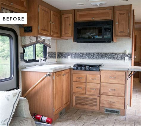 Painting Kitchen Cabinets Ideas Home Renovation - the progress of our rv kitchen cabinets mountain modern life
