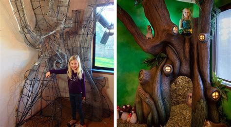 dad turns  daughters room   fantastical tree house