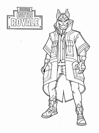 Fortnite Coloring Printable Pages Sheets