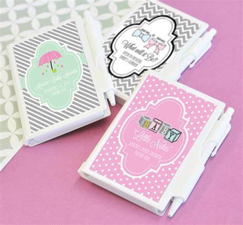 personalized  notes notebook favors