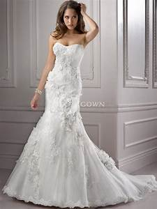 looking classical and vintage with strapless lace wedding With strapless lace mermaid wedding dress