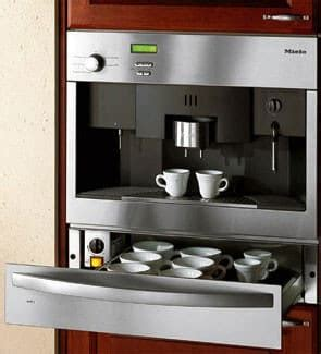 Built‑in coffee machine with directwater. Miele CVA615 24 Inch Whole Bean Built-in Coffee System ...