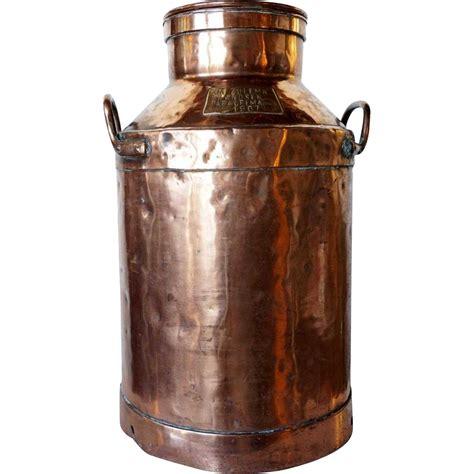 argentine copper creamer jug  chained lid vintagebeginshere  wwwrubylanecom