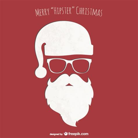 Hipster Christmas Card Vector Vector  Free Download